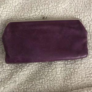 Hobo International Purple Leather Clutch Wallet